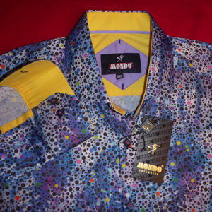 New Shirt L M Men Limited Polka Dot Tie Dye Rare